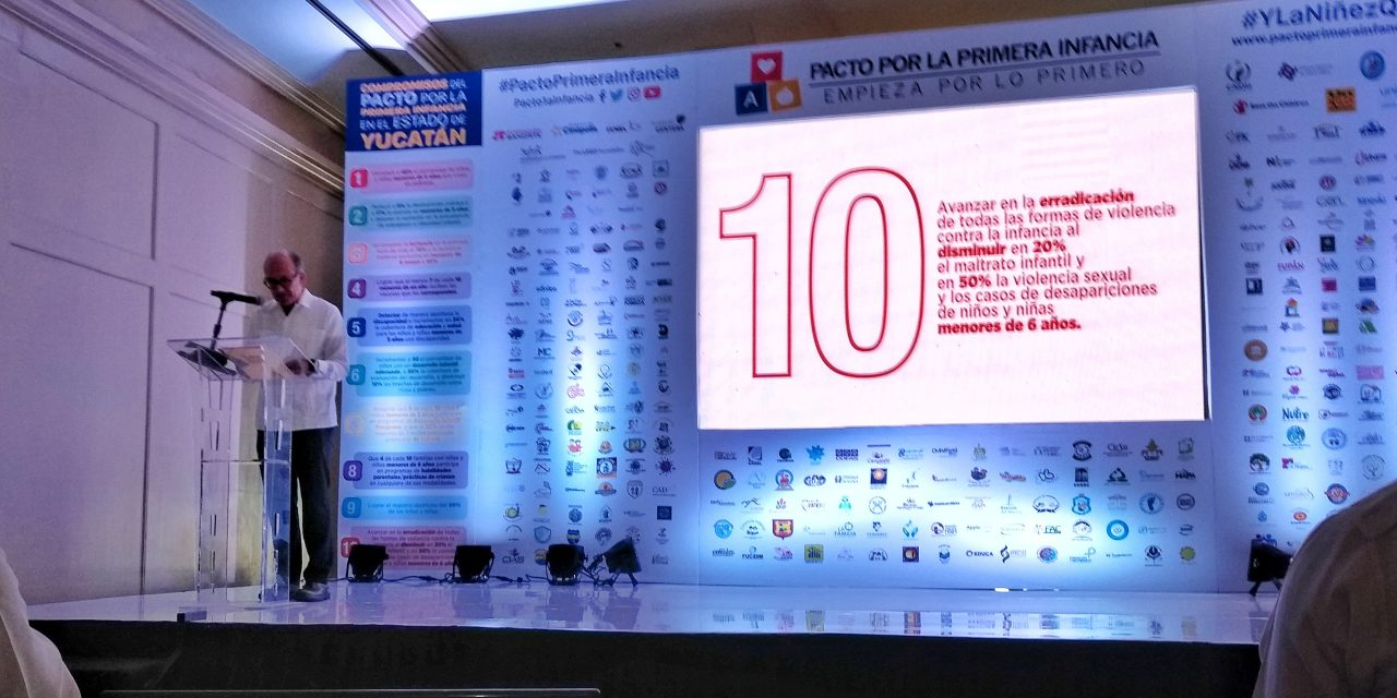 Les gritan a candidatos de Yucatán: ¡firmen el #PactoPrimeraInfancia! (video)