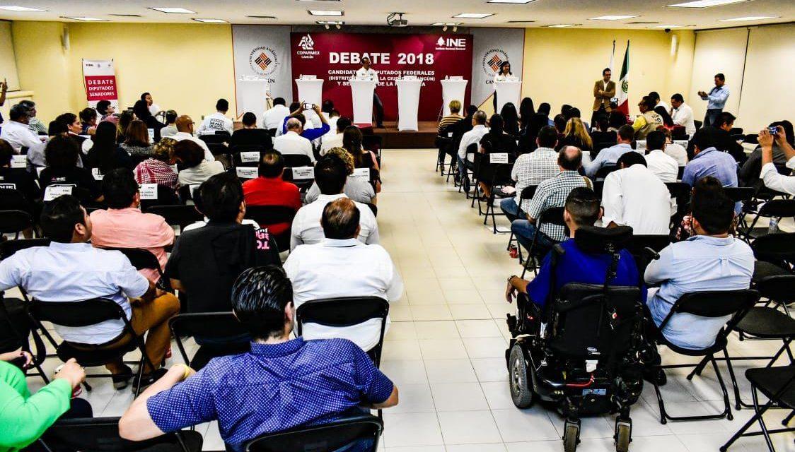 Cancelan en Cancún debate de candidatos a senadores