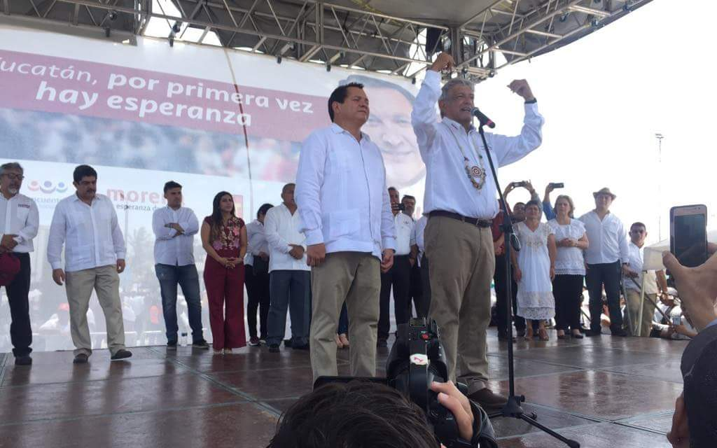 Va haber un presidente 'choco-yucateco', augura López Obrador