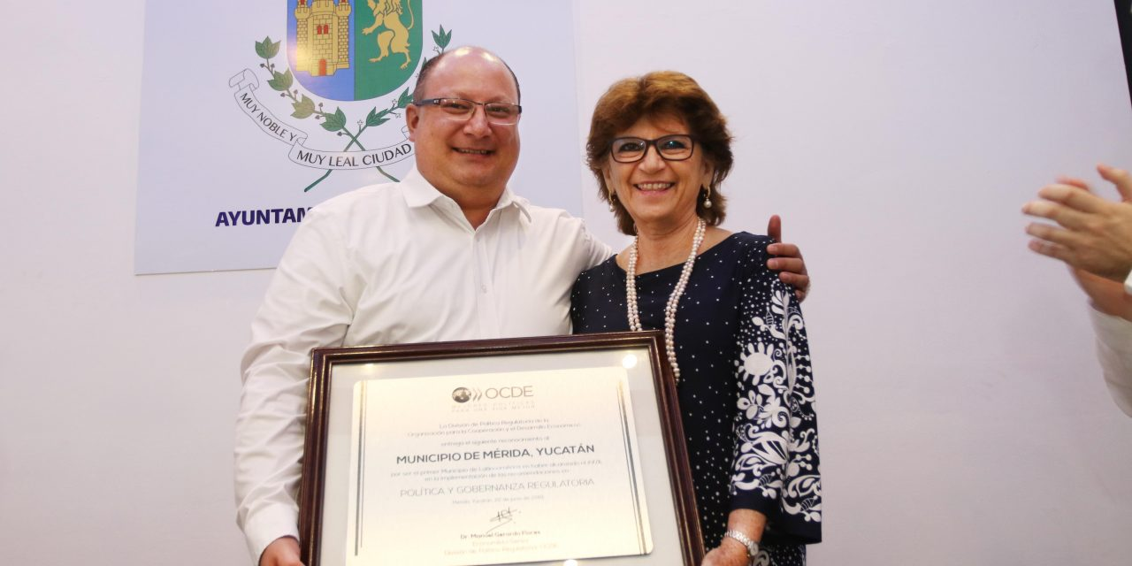 Mérida, campeona internacional en mejora regulatoria, afirma la OCDE