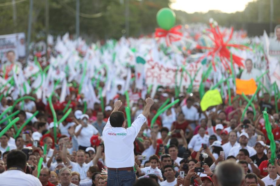 Los buenos yucatecos votan por el PRI, dice Mauricio Sahuí, en cierre de campaña (video)