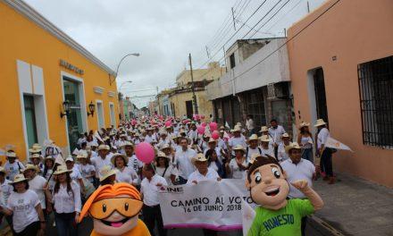 Camino al voto 2018, promoción cívica en Yucatán