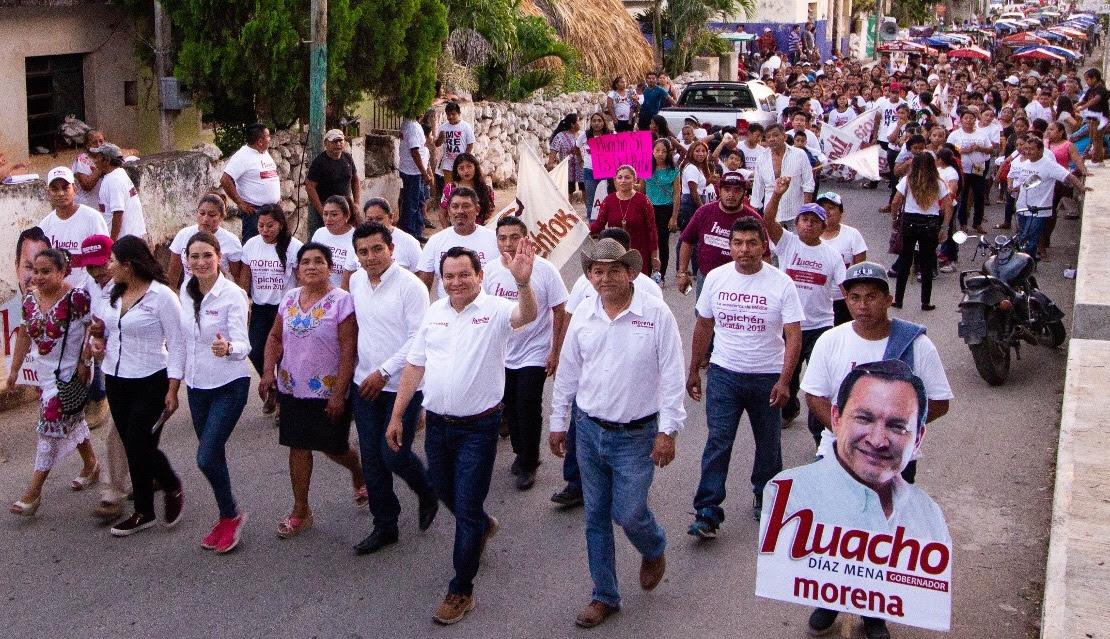 Camina Huacho por Sacalum, Santa Elena, Muna, Opichén, Maxcanú y Halachó