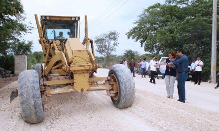 Así va rehabilitacióncarretera entre comisarías Temozón Norte y Chablekal