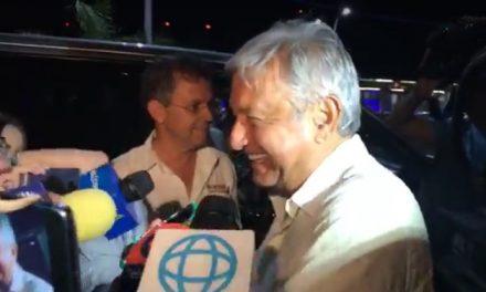 'Requete bien y de buenas'.- López Obrador, a su llegada a Mérida