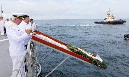 Homenaje a marinos en Novena Zona Naval de Yucalpetén