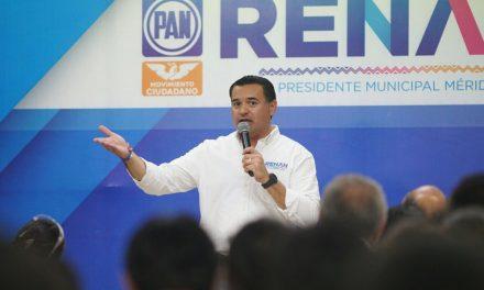 """""""Conservemos todo lo bueno que hemos logrado en Mérida"""", Renán Barrera"""