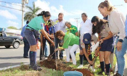 Quinta Jornada Forestal en Cholul, en la ruta de 85 mil 600 árboles en Mérida