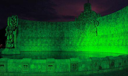 Con iluminación mandan mensaje a favor del medio ambiente