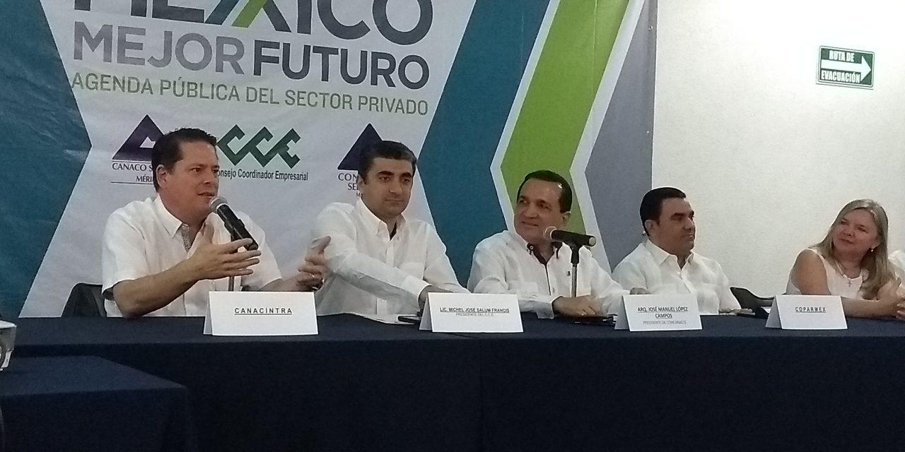 Cúpula empresarial del país exigirá menos violencia y corrupción