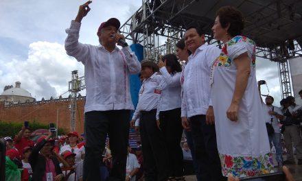 Último empujón de López Obrador candidatos de Morena en Yucatán