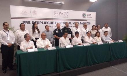 Despliega Yucatán operativo de recepción de delitos electorales
