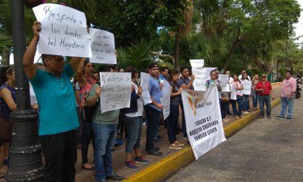 Frente Magisterial de Yucatán analiza vía jurídica contra Segey