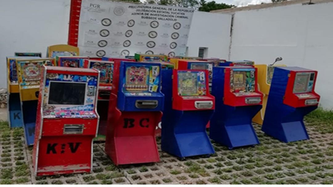 Aseguran en Valladolid máquinas tragamonedas