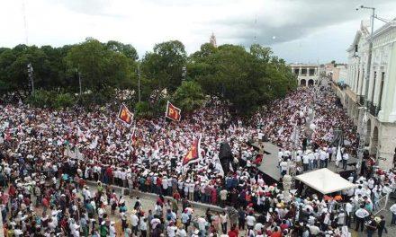 El martes le estaré tocando la puerta a Peña Nieto: AMLO, en Yucatán (video)