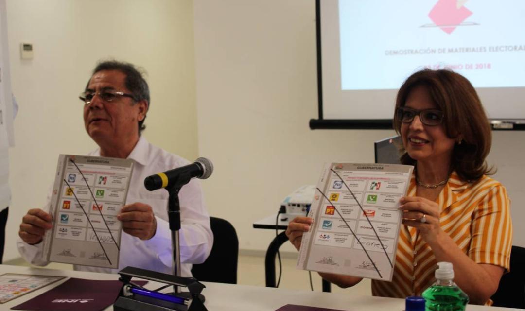 Exhibe INE Yucatán boletas y materiales electorales