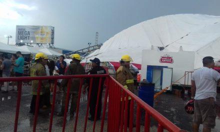 Cancela Gobierno el Gran Asadero Fest, en Mérida por caída de una carpa (videos)