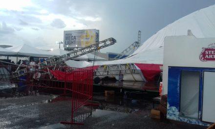 Terror y caos por caída de estructura en Gran Asadero Fest, en Mérida (video)