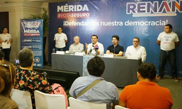Defendamos el voto libre de los meridanos: Renán Barrera