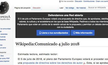Wikipedia cierra de forma temporal para protestar por una polémica directiva europea