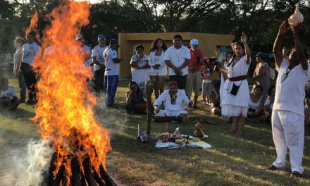 Ceremonia del Fuego Sagrado Maya, previo a eclipse lunar (videos)