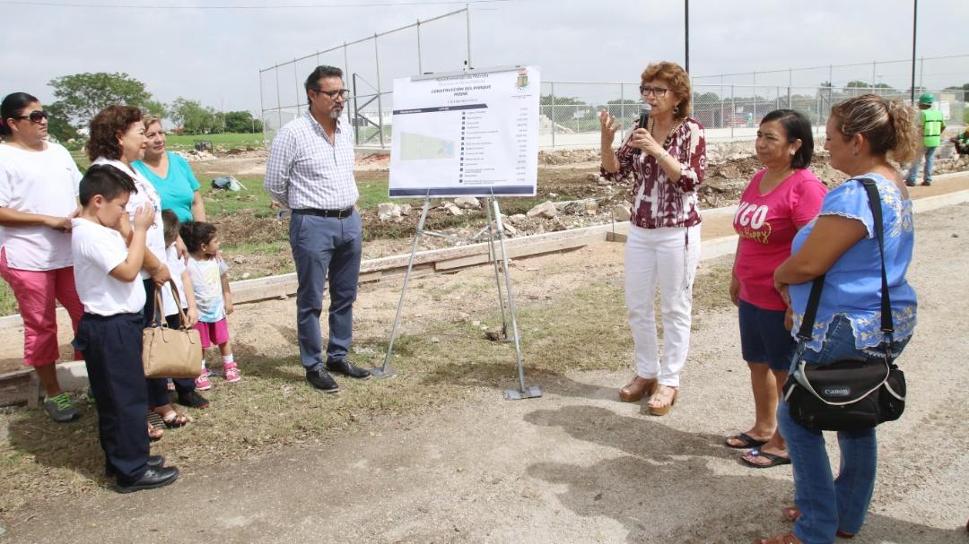 Supervisa alcaldesa obras en Misné y colonia Emiliano Zapata Oriente