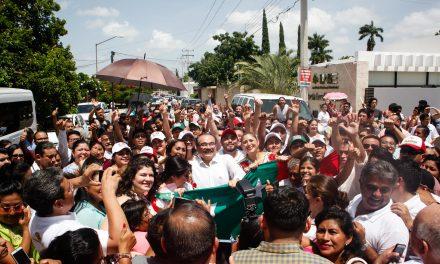 Ramírez Marín y su fórmula festejan constancia de mayoría