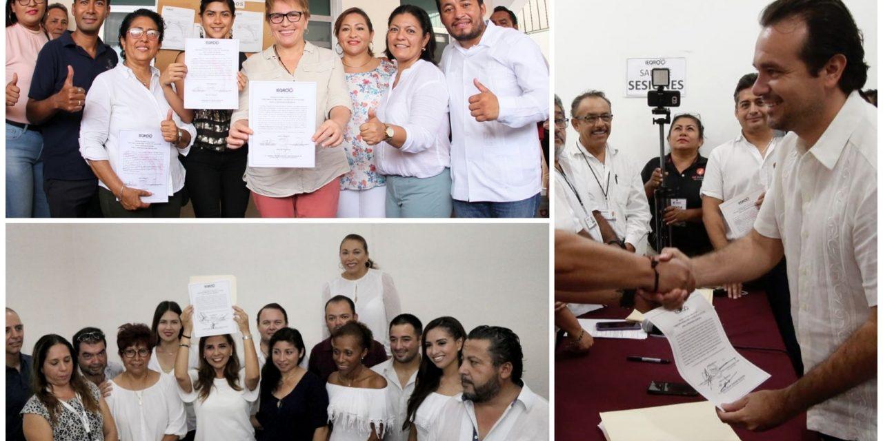 Tres repetidores y ocho nuevos presidentes municipales en Quintana Roo