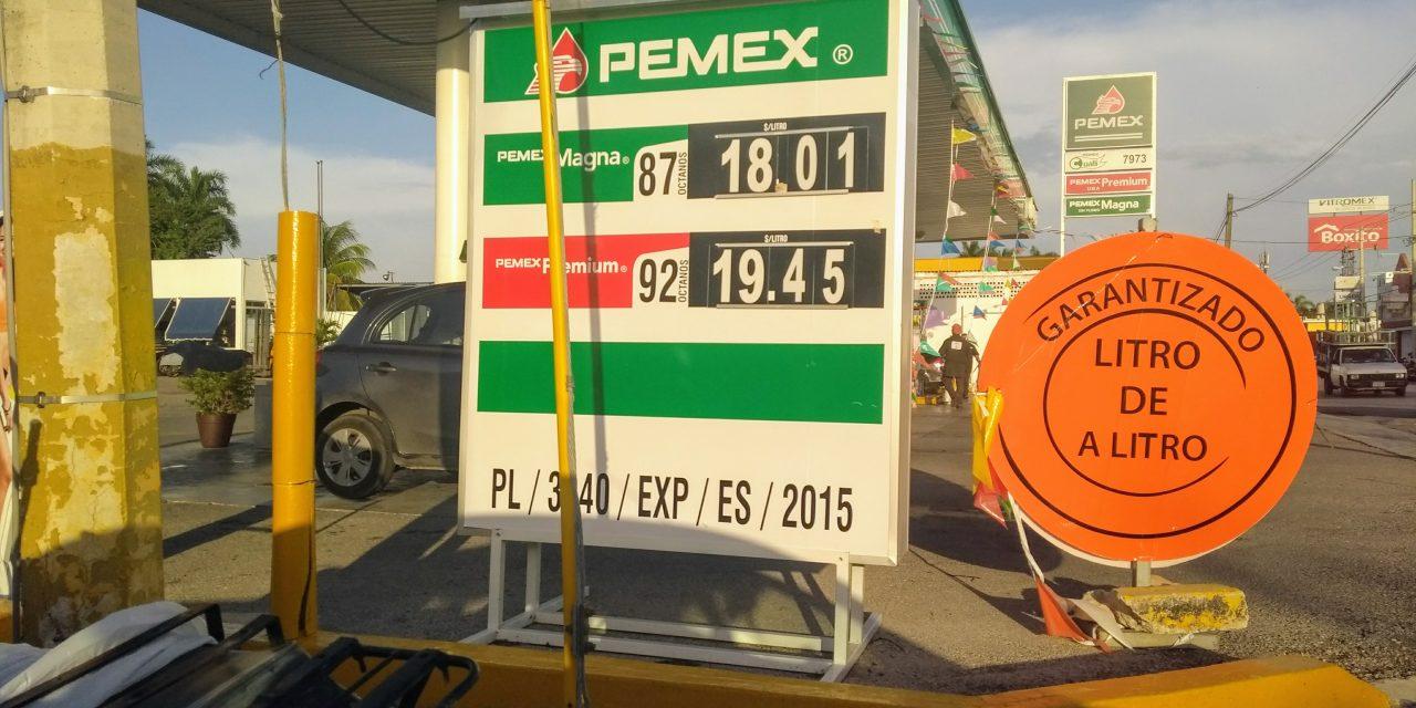 AMLO dijo 'no' a gasolinazos… pero todavía no asume: Magna rebasa $18 en Mérida