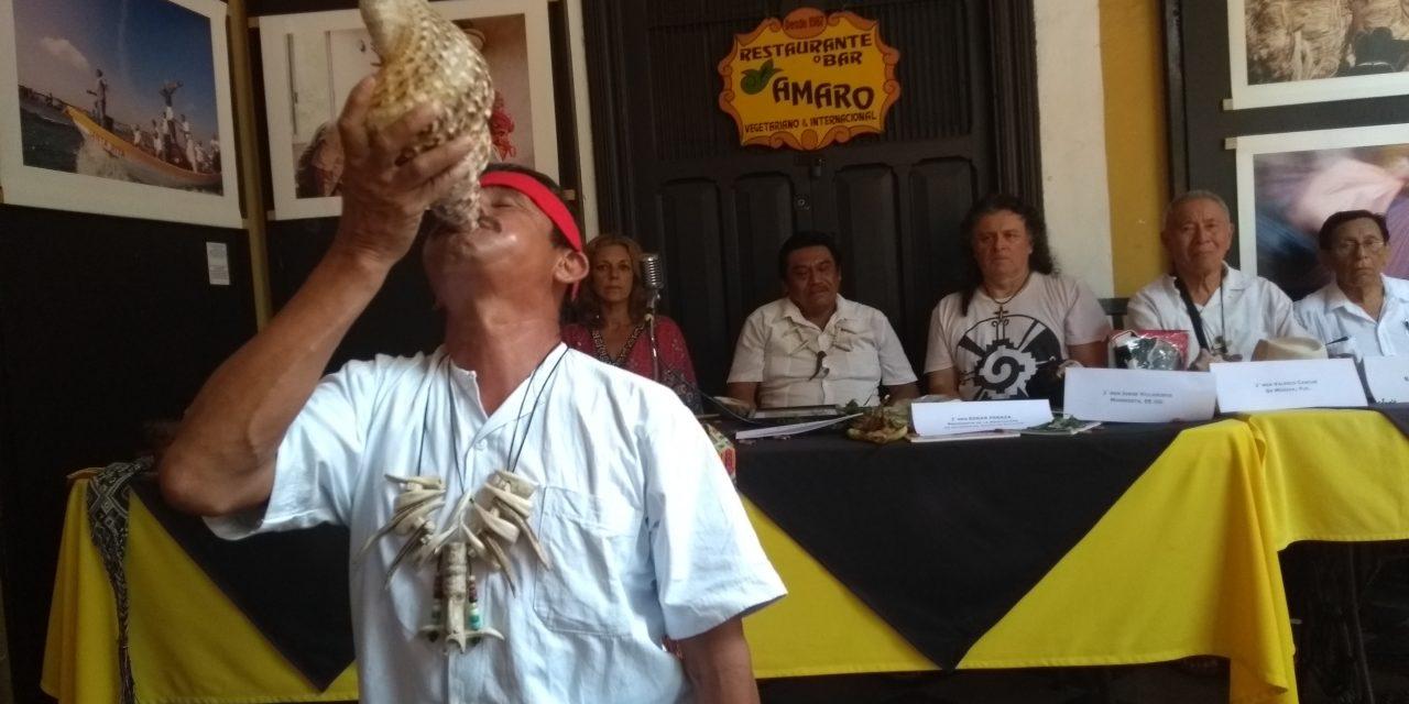 Sacerdotes mayas, a encuentro de etnias en Minessota, EU