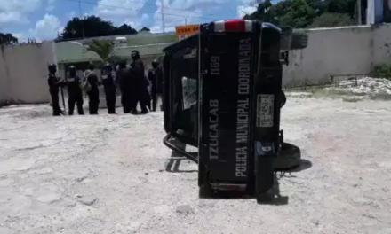 Vándalos causan desmanes durante protesta en Tzucacab
