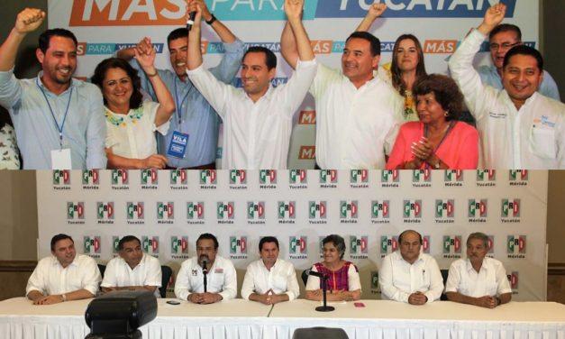 Vila y Sahuí se declaran ganadores en elección de gobernador en Yucatán (videos)