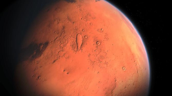 Marte esconde un enorme lago de agua líquida bajo su superficie