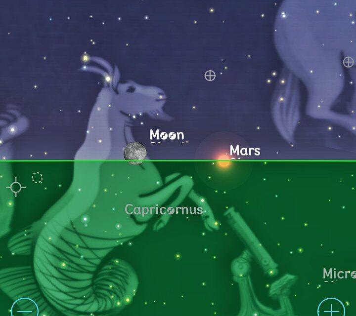 En Yucatán, ni Luna roja ni eclipse, pero verás 'boda' entre Luna y Marte