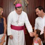Visita familiar de Vila al Arzobispo de Yucatán