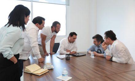 Vila Dosal y Jiménez Pons se reúnen para hablar sobre el proyecto del Tren Maya
