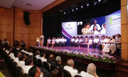 Cierra trienio 2015-2018 en Mérida con tercer informe de alcaldesa