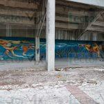 Listos, murales del estadio de futbol 'Carlos Iturralde Rivero' (videos)