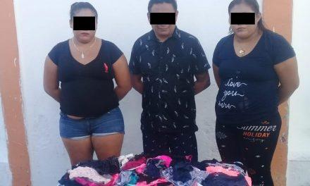 Detenidos en Centro de Mérida con 111 prendas de ropa interior para dama