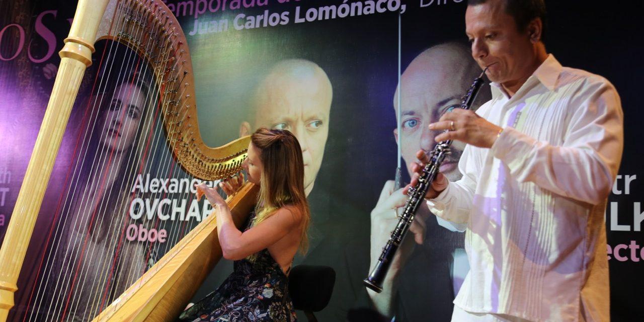 A estreno singular Concierto para arpa y oboe, del polaco Lutoslawski