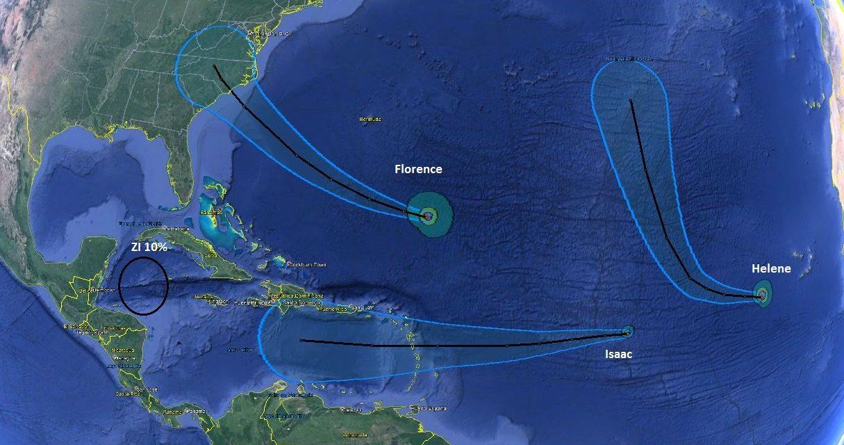 Bajo monitoreo zona de inestabilidad y tres sistemas tropicales en el Atlántico