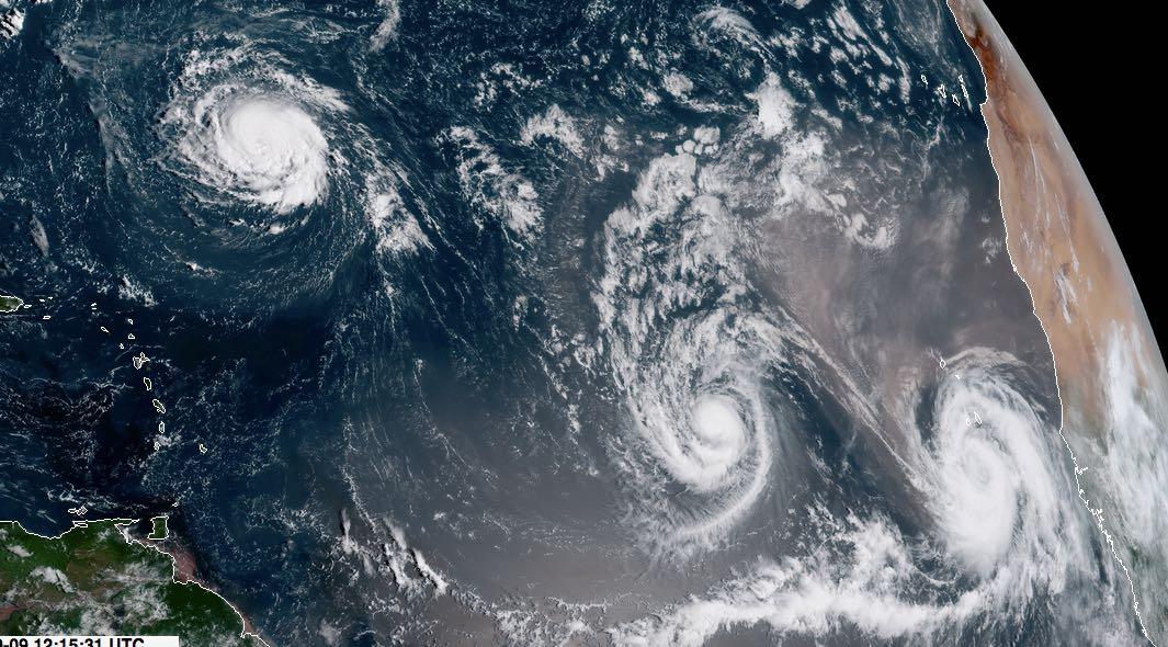 Florence, Isaac y Helene, potencial riesgo en el Atlántico