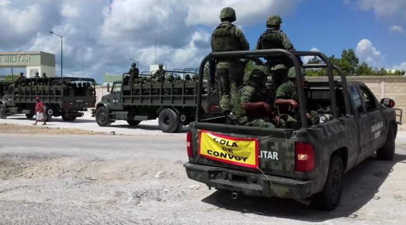 Está en Cancún primer contingente de Policía Militar