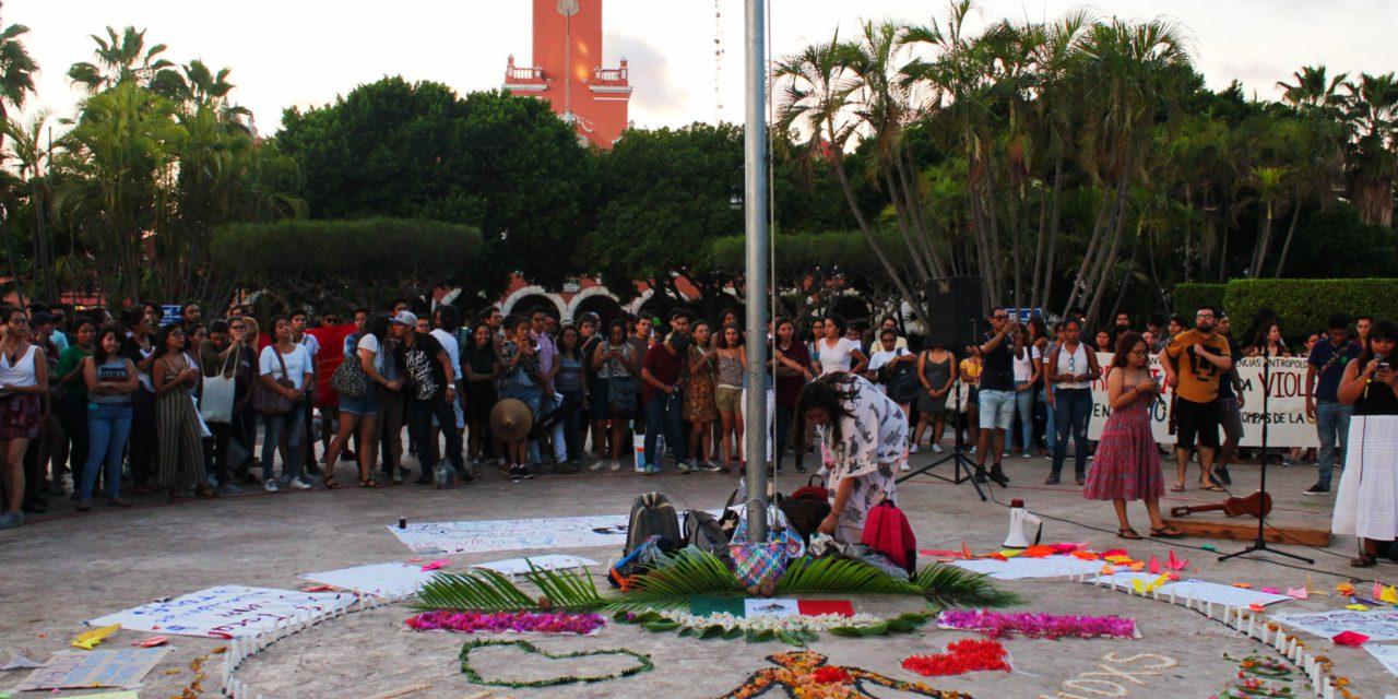 Alumnos de UNAM en Yucatán cambian gritos por música en una protesta (video)