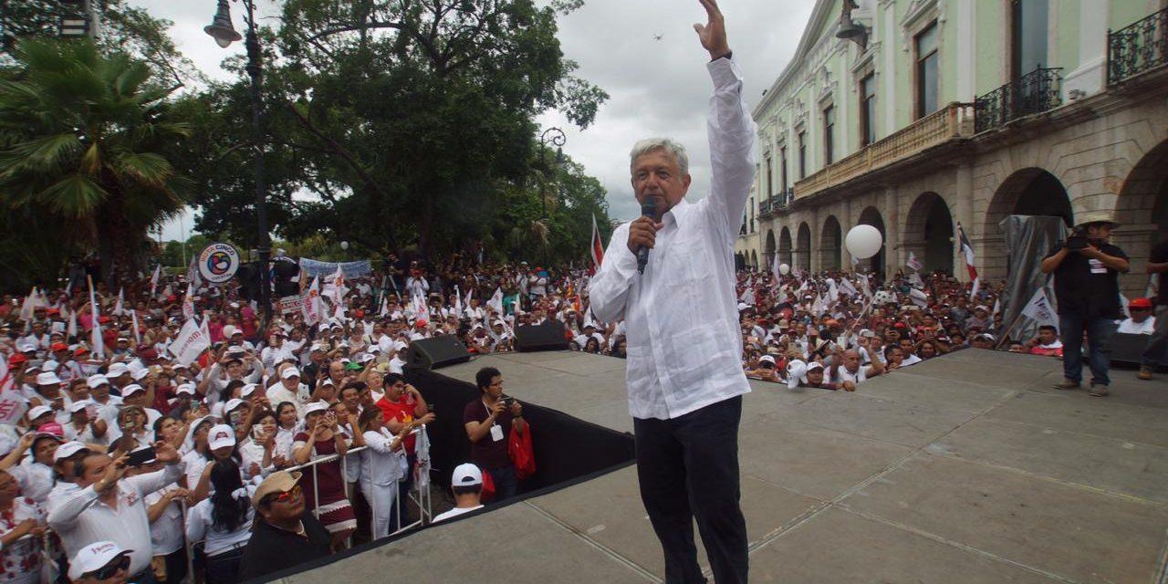Andrés Manuel López Obrador regresa a Yucatán