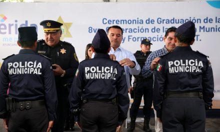 Aprecia alcalde de Mérida desempeño de policía municipal
