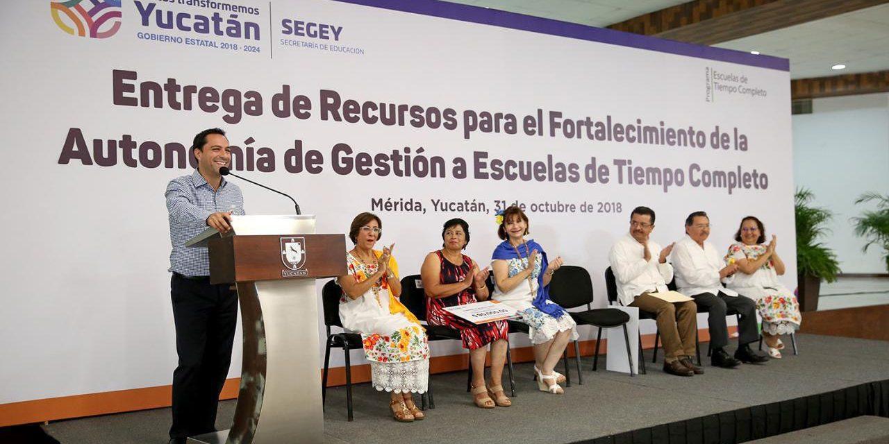 Mayor impulso, a Escuelas de Tiempo Completo de Yucatán