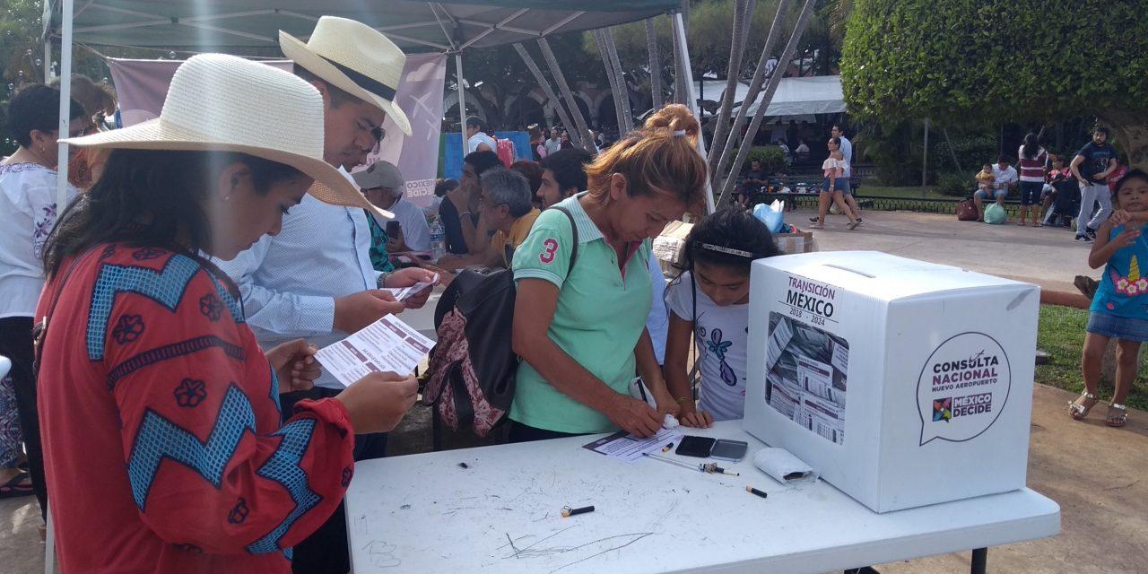Cumplen yucatecos en consulta sobre aeropuerto de CdMx