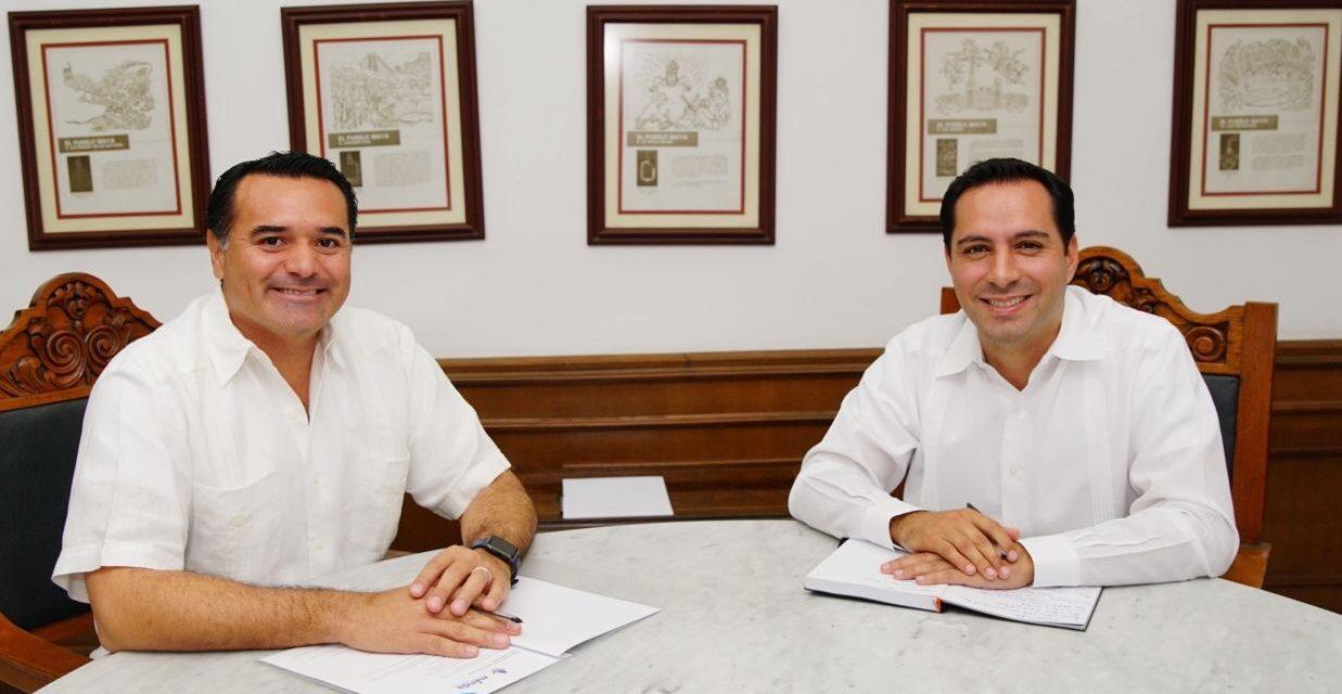 Renán y Vila reafirman agenda conjunta por Mérida