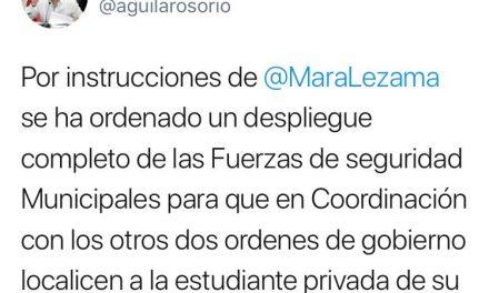 Moviliza a Cancún supuesto secuestro de estudiante